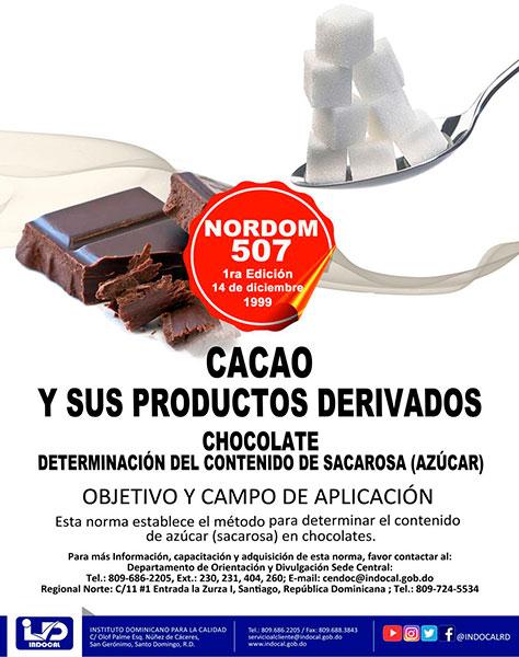 NORDOM-507 Cacao y productos derivados