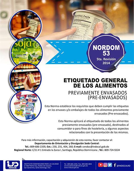 NORDOM-53 Etiquetado General de los alimentos previamente envasados
