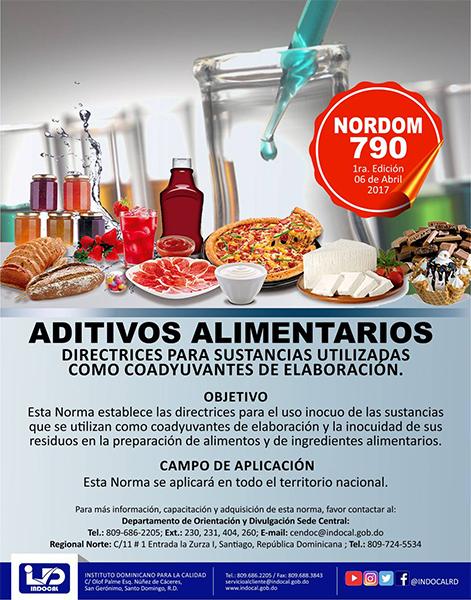 NORDOM-790 Aditivos alimentarios