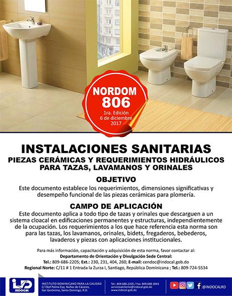 NORDOM-806 INSTALACIONES SANITARIAS
