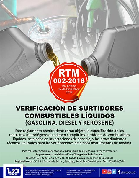 RTM-002-2018 VERIFICACIÓN DE SURTIDORES COMBUSTIBLES LÍQUIDOS